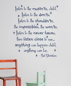 Look what I found on #zulily! Navy 'Listen To The Mustn'ts' Decal by Wallquotes.com by Belvedere Designs #zulilyfinds
