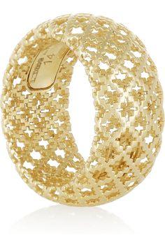 18-karat gold ring|Gucci