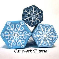 Easy intricate polymer clay snowflake canes tutorial pdf