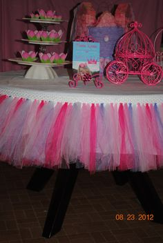 Chair Tutu For Your Princess Birthday Party Table Perfect Bridal Shower Decor Or Baby Decoration