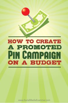 Do you want to add #PromotedPins to your marketing mix? This article shows how to build an effective, affordable promoted-pin campaign on #Pinterest