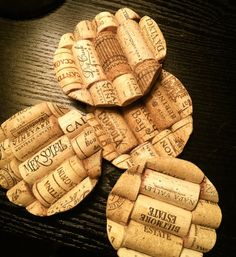 Protect your tables with these stylish DIY wine cork coasters.