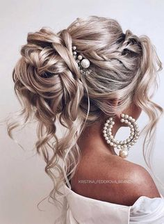 Wedding Hairs 73117 64 Chic updo hairstyles for wedding and any occasion - updo . Wedding Hairs 73117 64 Chic updo hairstyles for wedding and any occasion - updo hairstyle for date night , wedding updo , bridal updo hairstyle Wedding Hairstyles For Long Hair, Wedding Hair And Makeup, Wedding Updo, Hairstyle Short, Bridal Hair Updo With Veil, Blonde Bridal Hair, Prom Updo, Bridal Hairstyle, Bridal Party Hairstyles