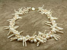 Biwa Pearl Necklace by PEARLSGALLERY on Etsy, €320.00