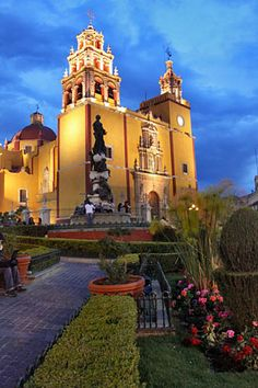 Guanajuato - #Mexico #Mexican #church - to purchase folk art churches of clay, visit www.mainlymexican...