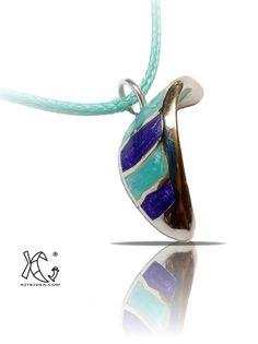 KITESURFING kiteboarding enamelled pendant jewel by KITEIDEA