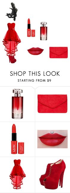 """""""Red queen"""" by xoxo-ily ❤ liked on Polyvore featuring Lancôme, Dorothy Perkins, Christian Louboutin, Masquerade and Halloween"""