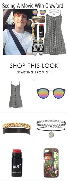 """""""Seeing A Movie With Crawford"""" by jaimee-1d-5sos ❤ liked on Polyvore featuring Barton Perreira, Marc by Marc Jacobs, Topshop, Disney, Converse, YouTubers, viners, CrawfordCollins and crawford"""