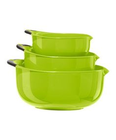 Oggi Set of 3 Oval mixing bowls ** Don't get left behind, see this great product : Baking mixing bowls