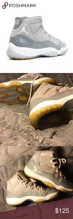 JORDAN RETRO 11s COOL GRAYS  PERFECT CONDITION these are from 2010  COLLECTOR'S ITEM  US 3.5 in boys = 5.5 in women's  hardly even wore them as you can see they are pretty clean !   no trades please Jordan Shoes Sneakers