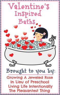 Valentine Bath Week -- so much fun for kids!!!