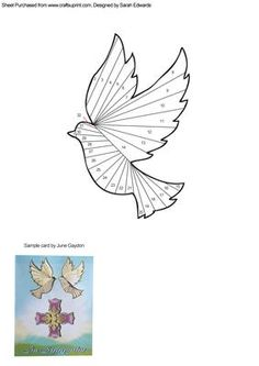 Dove Iris Folding Pattern on Craftsuprint designed by Sarah Edwards - An iris folding pattern of a dove. - Now available for download!