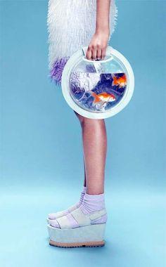 Avant-garde bag design: Fish aquarium backpack and handbag design by Cassandra Verity.