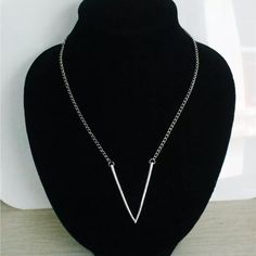 """✨Chic New Deep V Necklace✨ ✨Gorgeously chic deep """"V"""" pendant necklace! A great accent piece for any day! Order yours today! Jewelry Necklaces"""
