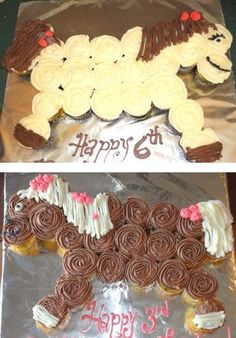 Made a pony cupcake cake for my cousins 18th birthday who loves