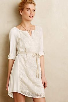 Paperwhites Embroidered Shirtdress - anthropologie.com