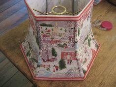 Rare: UNO Shade with Vintage Grandma Moses Barkcloth. $85.00, via Etsy.