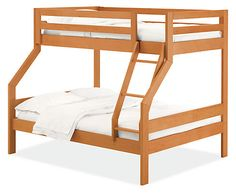 The Waverly Duo kids bunk bed features solid construction and a unique design making it a fun solution for kids' bedrooms. The Duo bunk accommodates a full mattress on the lower bunk and a twin on top, making it fun for kids or even for out-of-town guests. Our Waverly Duo bunk bed meets or exceeds all U.S. requirements of the CPSC and voluntary standards of ASTM. Waverly is made from domestically sourced wood and U.S. and imported materials at a family-owned shop in New York.