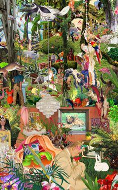 L'artiste croate Sanda Anderlon crée ces collages géants composés de milliers bouts d'images soigneusement sélectionnées qui forment des scènes extravagantes qui fourmillent de détails et de clins d'oeils dans les moindres recoins de l'image. N'hésitez pas à aller sur son site pour voir plus de tr elle en vend des tirages ici.