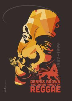 The Crown Prince of Reggae Dennis Brown by Michael Thompson Freestylee Reggae Rasta, Rasta Art, Reggae Music, Dennis Brown, Michael Thompson, Reggae Artists, Dancehall Reggae, Brown Art, Music Images