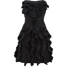 Black Taffeta Ruffle Dress (£12) ❤ liked on Polyvore featuring dresses, vestidos, black dresses, short dresses, women, black taffeta cocktail dress, short black cocktail dresses, black ruffle dress and black cocktail dresses
