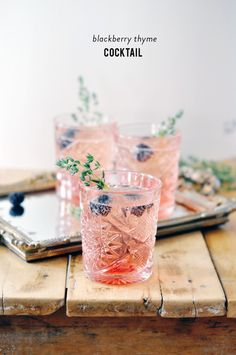 blackberry + thyme cocktail
