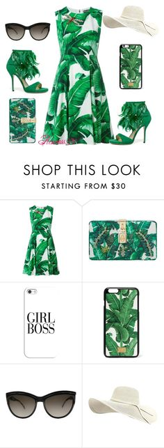 """""""Dolce & Gabbana"""" by princess976 ❤ liked on Polyvore featuring Dolce&Gabbana, TOMS, Casetify, Alexander McQueen, dolceandgabbana and tropicalprints"""