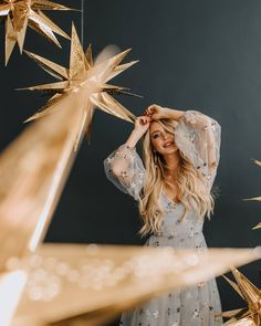 Fotoideen Photo by Ashley Zibetti, Design by Belle Bodas, Gown by Natalie Wynn, HMUA by Brynn Thomas Starry Wedding, Boho Wedding, Dream Wedding, Wedding Day, Celestial Wedding, Wedding Themes, Wedding Decorations, Wedding Dresses, Alternative Wedding