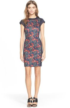 Ted Baker London 'Luski' Cherry Print Body-Con Dress available at #Nordstrom