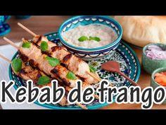 KEBAB DE FRANGO com molho de iogurte e pão sírio caseiroI Receitas e Temperos - YouTube
