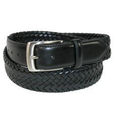 Danbury Men's Big & Tall Comfort Stretch Leather Braided Belt