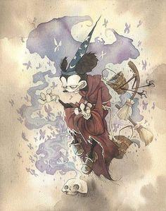 Mickey Aprendiz de Feiticeiro Grim
