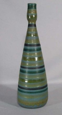 Tall Striped Vase by Alvino Bagni