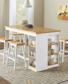 Buy Christy Counter Storage Table at FurniturePick store. This casual Christy Counter Dining Room Collection by Progressive Furniture is simple in design and comfortable in many settings. Kitchen Table With Storage, Table Storage, Kitchen Decor, Kitchen Design, Kitchen Tables, Space Furniture, Dining Furniture, Furniture Design, Coaster Furniture