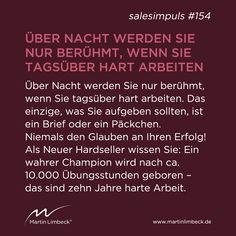 #salesimpuls #154- Verlieren Sie niemals den Glauben an Ihren Erfolg! www.martinlimbeck.de
