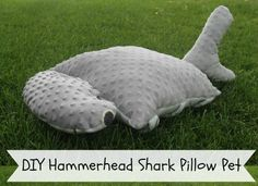Make your own pillow pet pattern. A unique pillow pet pattern for a hammerhead shark! This guy looks awesome and kids will love having a shark pillow pet.