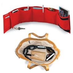 An easy way to keep a large purse or tote organized! Solutions.com