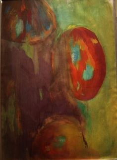 Zonder titel, schilderij van Welbel Art, Liesbeth van Welbergen .. Kunst / Abstract / Modern / Schilderij