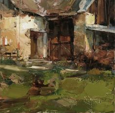 An Ancient Luck by Tibor Nagy Oil ~ x Contemporary Landscape, Urban Landscape, Abstract Landscape, Landscape Paintings, Abstract Art, Oil Paintings, Beautiful Paintings, Beautiful Landscapes, Art Oil