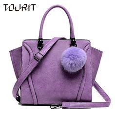 $47.98 (Buy here: https://alitems.com/g/1e8d114494ebda23ff8b16525dc3e8/?i=5&ulp=https%3A%2F%2Fwww.aliexpress.com%2Fitem%2F2016-New-Spring-Women-Handbags-With-Fur-Ball-Luxury-PU-Leather-Tote-Good-Quality-Women-Bag%2F32635855120.html ) 2016 New Spring Women Handbags With Fur Ball Luxury PU Leather Tote Good Quality Women Bag Purple Trapeze Women Messenger Bags for just $47.98