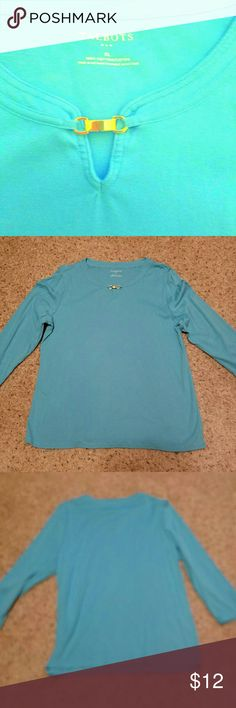Talbot's Long Sleeve Shirt Size XL, 100 % cotton, worn 1-2 times. Great condition. Talbot's  Tops Tees - Long Sleeve