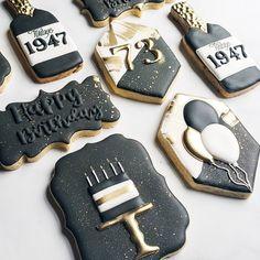 Cookie Icing, Royal Icing Cookies, Sugar Cookies, Man Cookies, Cut Out Cookies, Cookie Decorating, Decorating Ideas, Birthday Cookies, Birthday Celebration