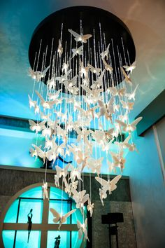stunning lighting. The Gorgeous Chandelier In Our Showroom Is Constructed Of Stunning Porcelain Butterflies With An Amazing Fibreoptic Lighting A