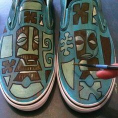 Tiki tOny custom painted Vans