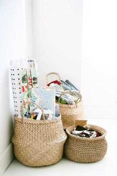 Adorable woven baskets | 10 Super Stylish Storage Ideas for Kids Rooms - Tinyme Blog