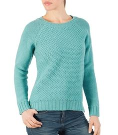 Women's Textured Crew Neck Sweater | Wool Overs Canada