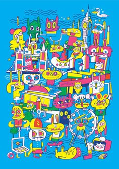 The Brooklyn-based artist's Jon Burgerman