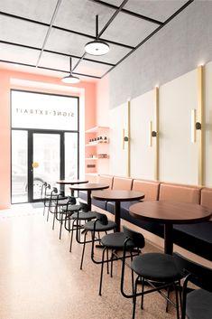 27 Captivating Scandinavian Bar Stools For Any Type Of Decor - Di Home Design Restaurant Interior Design, Commercial Interior Design, Luxury Interior Design, Interior Exterior, Interior Design Inspiration, Interior Architecture, Contemporary Interior, Design Ideas, Design Projects