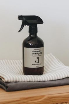 A 100% natural ironing aid spray, suitable for most fabric types. Use with or without the heat of an iron to relax and smooth fabrics while leaving them with a gentle aroma-therapeutic lavender based scent. Vegan friendly and biodegradable. Green Cleaning Recipes, Biomes, Vegan Friendly, Spray Bottle, Biodegradable Products, Lavender, Fabrics, Relax, Smooth