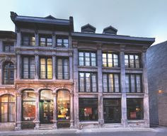 Twilight at Le Petit Hotel in #Montreal, #Quebec, converted from an old leather factory to a chic place to stay.